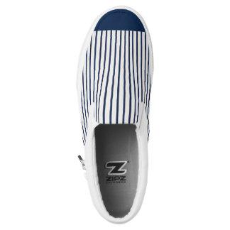 nautical desing printed shoes