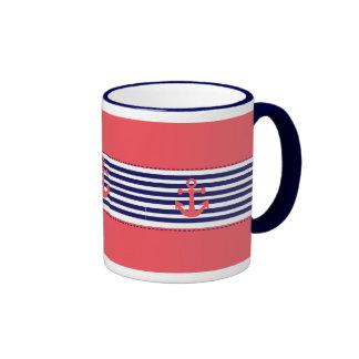 nautical desing ringer mug