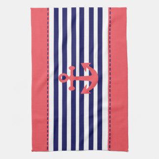 nautical desing tea towel