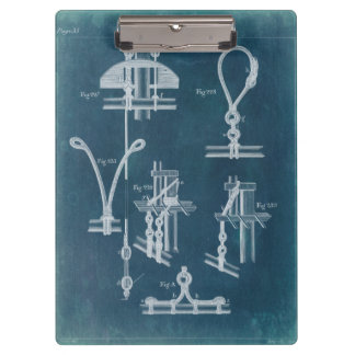 Nautical Detail Blueprint IV Clipboard