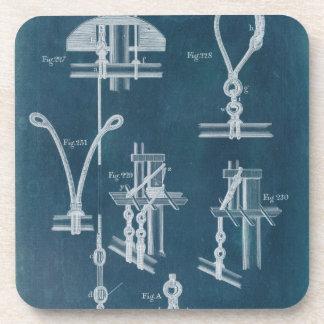 Blueprint drink beverage coasters zazzle nautical detail blueprint iv coaster malvernweather Gallery