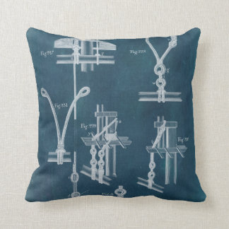 Nautical Detail Blueprint IV Cushion