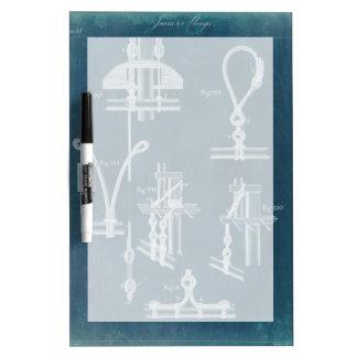 Nautical Detail Blueprint IV Dry Erase Board