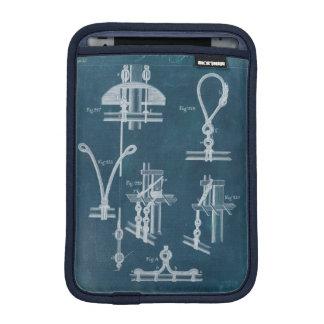 Nautical Detail Blueprint IV iPad Mini Sleeve