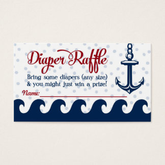 Nautical Diaper Raffle Cards Baby Shower Insert