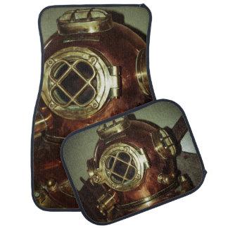 Nautical Diving Helmet Floor Mat