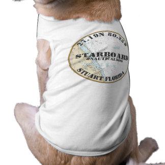 Nautical Dog Nautical Downtown Stuart Florida Shirt
