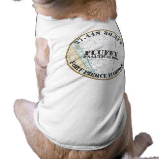 Nautical Dog Nautical Fort Pierce Florida Sleeveless Dog Shirt