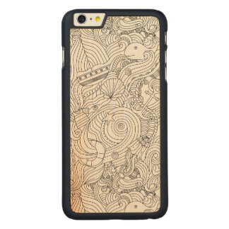 Nautical Doodle Carved® Maple iPhone 6 Plus Case