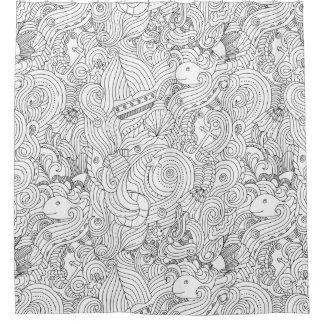 Nautical Doodle Shower Curtain