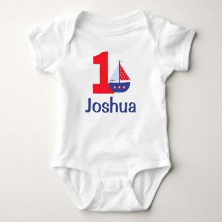 Nautical First Birthday Shirt, Birthday Body Suit Baby Bodysuit
