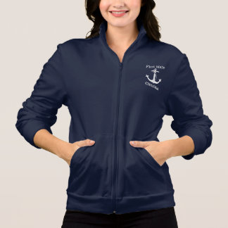 Nautical First Mate White Anchor Personalized