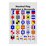 Nautical Flag Alphabet & Numerals Poster