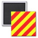 Nautical Flag Alphabet Sign Letter Y (Yankee) Square Magnet