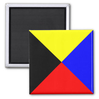 Nautical Flag Alphabet Sign Letter Z (Zulu) Magnet
