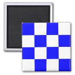 Nautical Flag Alphabet Signal Letter N (November) Square Magnet
