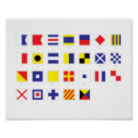Nautical Flag Chart