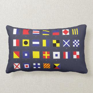 Nautical Flag Chart Lumbar Pillow