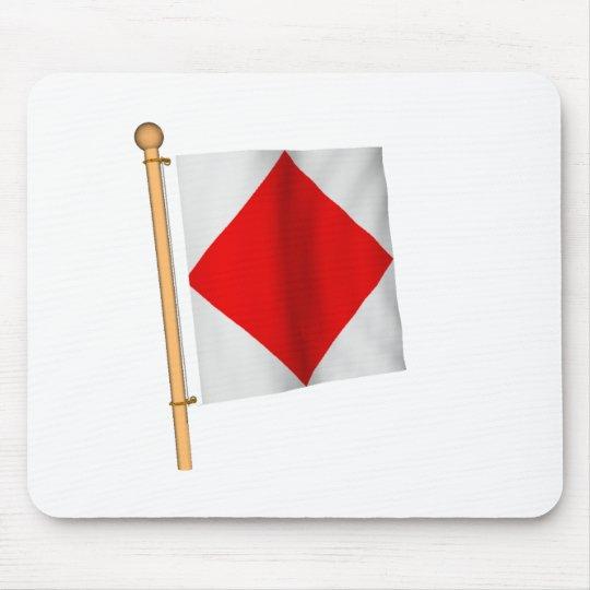 Nautical Flag 'F' Mouse Mat