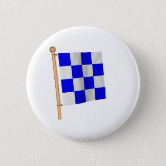 Nautical Flag 'N' 6 Cm Round Badge