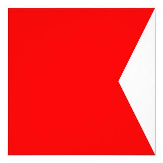 Nautical Flag Signal Bravo Letter B 13 Cm X 13 Cm Square Invitation Card