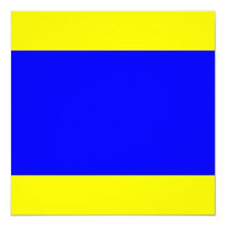 Nautical Flag Signal Delta Letter D 13 Cm X 13 Cm Square Invitation Card