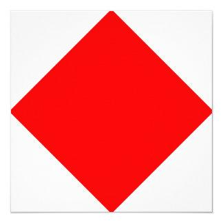 Nautical Flag Signal Foxtrot Letter F 13 Cm X 13 Cm Square Invitation Card