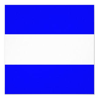 Nautical Flag Signal Juliet/ Juliette Letter J 13 Cm X 13 Cm Square Invitation Card