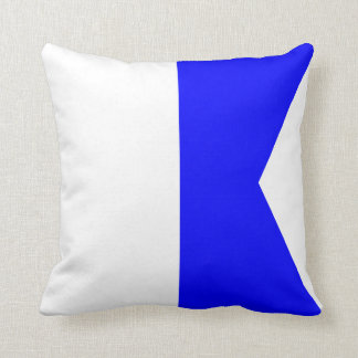 Nautical Flag Signal Letter A Cushion