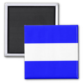 Nautical Flag Signal Letter J (Juliett) Square Magnet