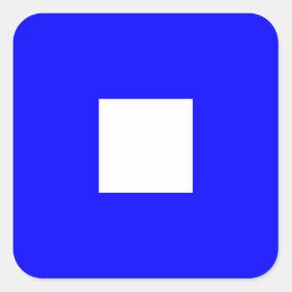 Nautical Flag Signal Letter P (Papa) Square Sticker