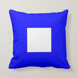 Nautical Flag Signal Letter P Papa Throw Cushions