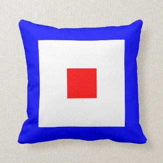Nautical Flag Signal Letter W Whiskey Cushion