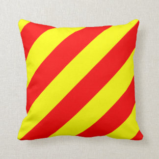 Nautical Flag Signal Letter Y Yankee Cushion