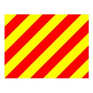 Nautical Flag Signal Letter Y (Yankee) Postcard
