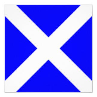Nautical Flag Signal Mike Letter M 13 Cm X 13 Cm Square Invitation Card