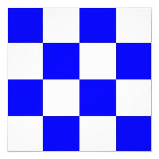 Nautical Flag Signal November Letter N 13 Cm X 13 Cm Square Invitation Card