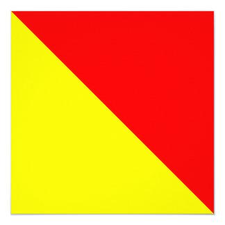 Nautical Flag Signal Oscar Letter O 13 Cm X 13 Cm Square Invitation Card