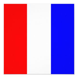 Nautical Flag Signal Tango Letter T 13 Cm X 13 Cm Square Invitation Card
