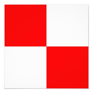 Nautical Flag Signal Uniform Letter U 13 Cm X 13 Cm Square Invitation Card