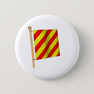 Nautical Flag 'Y' 6 Cm Round Badge