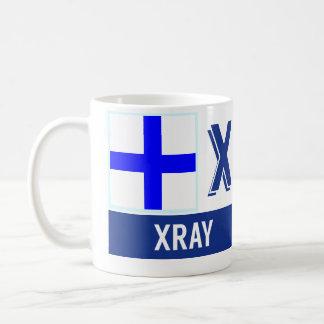 """Nautical Flags Alphabet """"X"""" Xray Basic White Mug"""