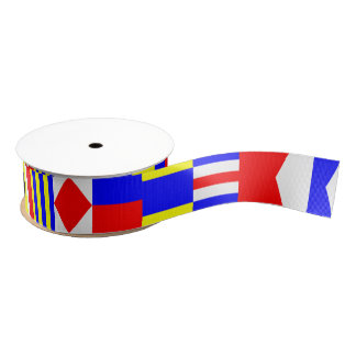 Nautical Flags Letters A (Alfa) - M (Mike) Grosgrain Ribbon
