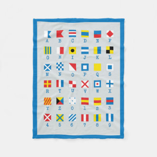 Nautical Flags Maritime Signals Fleece Blanket