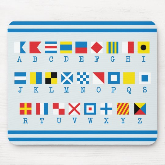 Nautical Flags Maritime Signals Mousepad