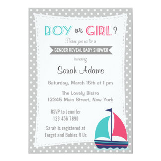 Nautical Gender Reveal Party Invitation Neutral