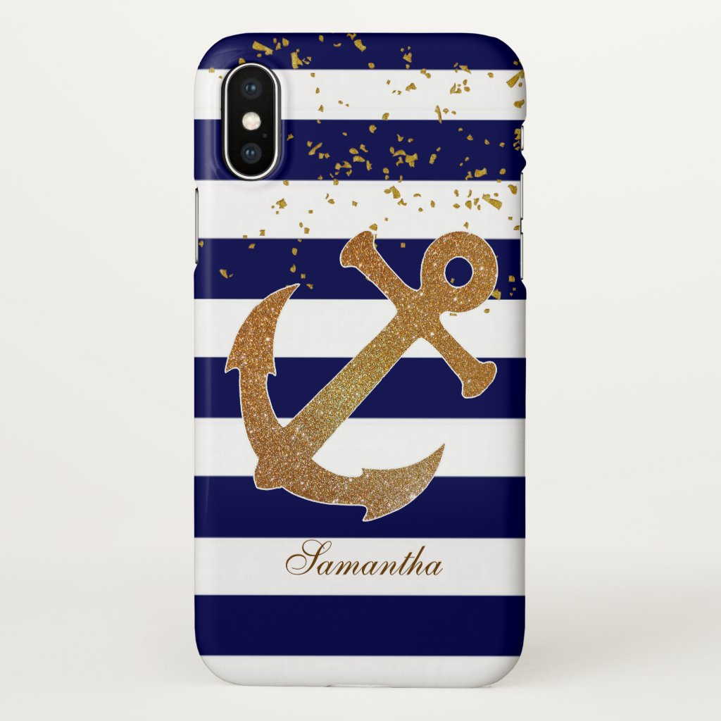 Nautical Anchor iPhone X Case