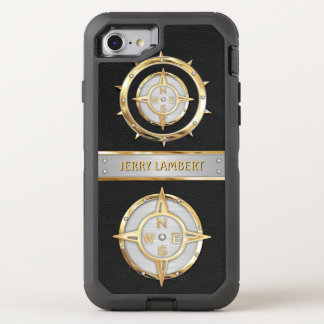 Nautical Gold and Silver OtterBox Defender iPhone 8/7 Case