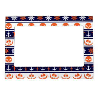 Nautical Halloween pattern Magnetic Picture Frame