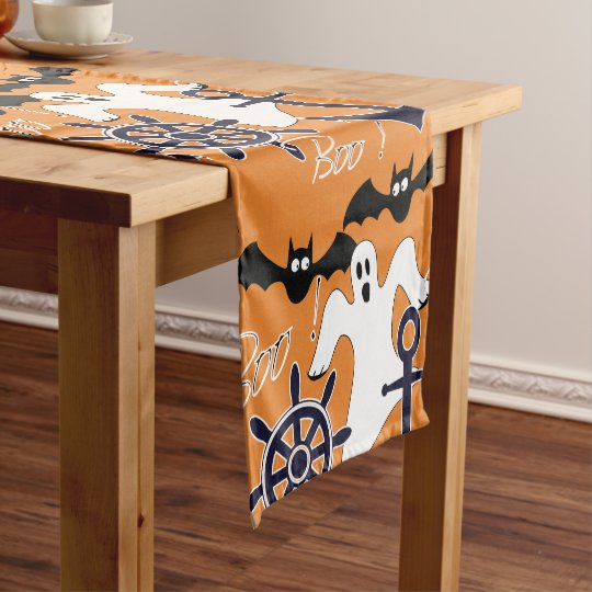 Nautical Halloween pattern Short Table Runner